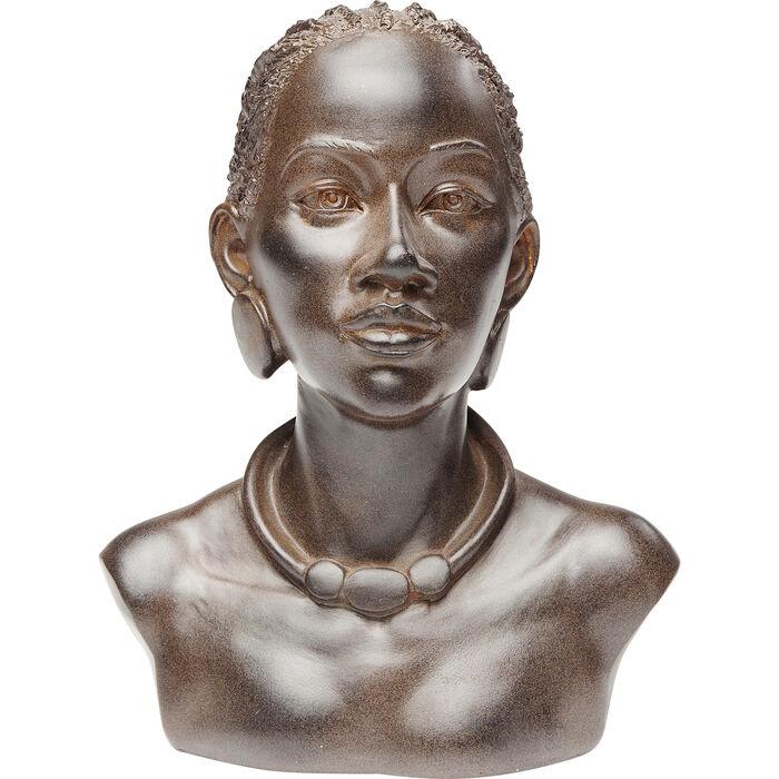 marr/ón Kare Design 68655 Objeto Decorativo African Lady Necklace