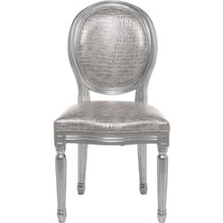 Chair Louis Silver Croco Antique