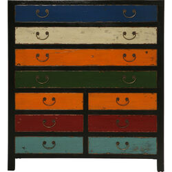 Cabinet Harlekin black 10 Drawers