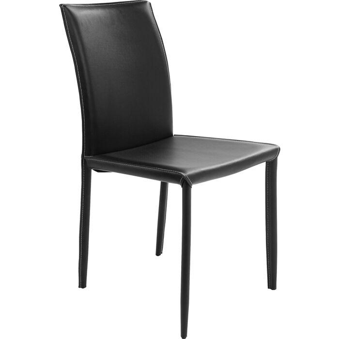 Stuhl milano schwarz kare design for Design stuhl schwarz