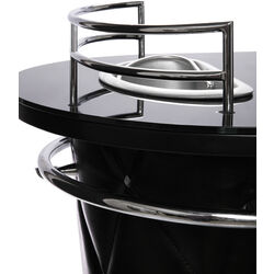 Rockstar Bar Glass Top Black