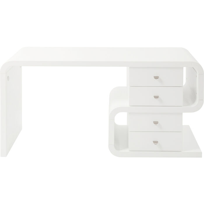White Club Schreibtisch Snake 150x70cm - KARE Design
