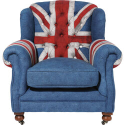 Armchair Grandfather Union Jack