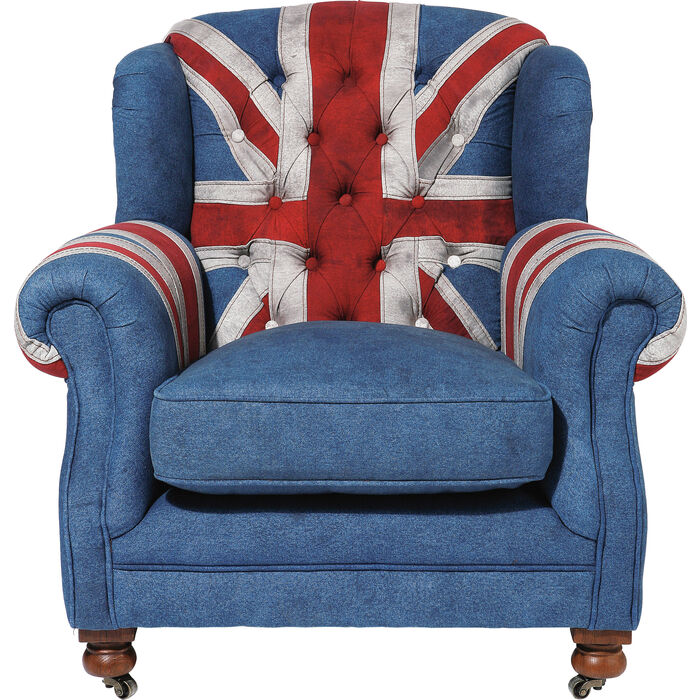 Arm Chair Grandfather Union Jack  KARE Design