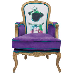 Villa Armchair Grandfather Mops Purple