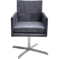 Swivel Armchair Dialog Anthracite