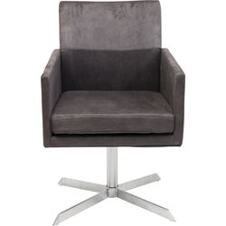 Swivel Armchair Dialog Brown