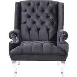 Arm Chair Barocco Black