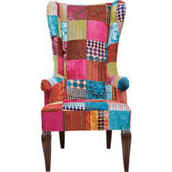 Wing Chair Patchwork Velvet