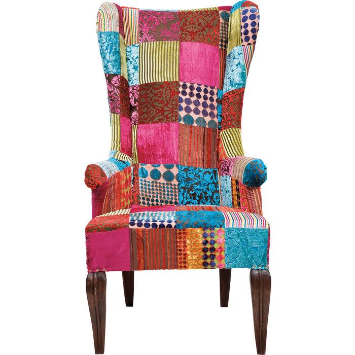 ohrensessel patchwork velvet kare design. Black Bedroom Furniture Sets. Home Design Ideas
