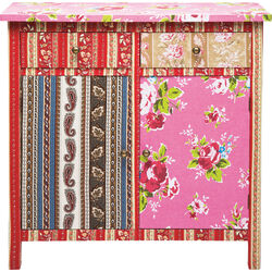 Dresser Patchwork Red 2Doors 2Drw