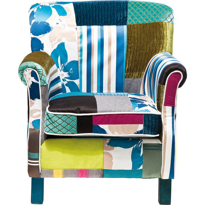 Poltrona patchwork stripes kare design for Poltrona kare design