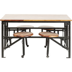 Table+Stool Space 5-part 140x89cm