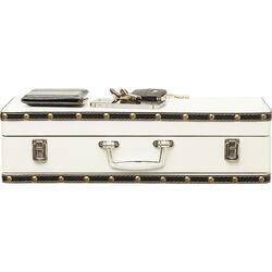 Wall Shelf Suitcase White 1Drw