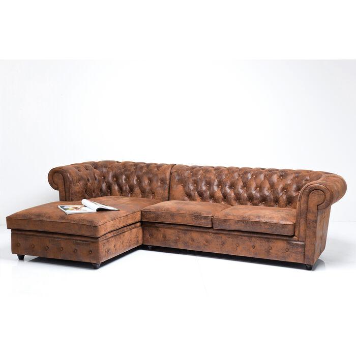 Ecksofa Oxford 3 Sitzer Recamiere Vintage Eco L Kare