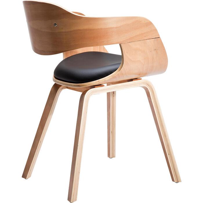 Stuhl mit armlehne costa beech kare design for Kare design stuhl costa