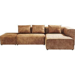 Sofa Infinity Antique 24 Ottomane Right Cognac