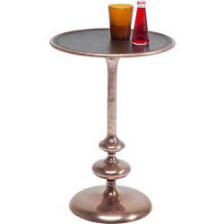 Side Table Swing Leather Copper Ø39cm
