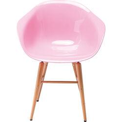 Židle s opěrkou ruky Forum Wood Pink