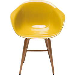 Chair with Armrest Forum Wood Mustard