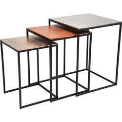 Side Table Loft Square Vintage (3/Set) 41x41cm