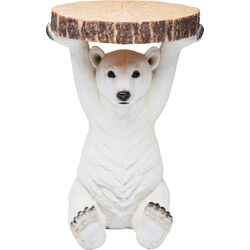 Side Table Animal Polar Bear Ø37cm