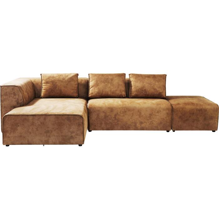 Sofa infinity ottomane left cognac kare design for Kare sofa