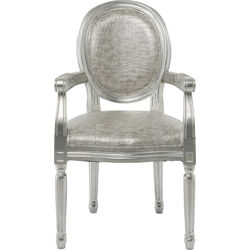 Chair with Armrest Gastro Louis silver/silver