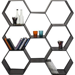 Shelf Comb Black 127x120cm