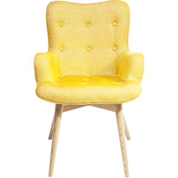 Chair with Armrest Angel Wings Mustard