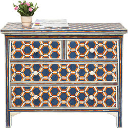 Dresser Honeycomp Blue 4 Drw