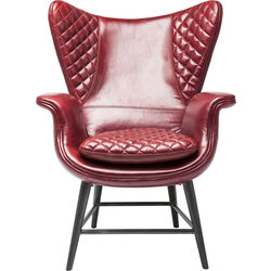 Arm Chair Tudor Red Leather