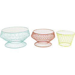 Side Table Wire Colore (3/Set)