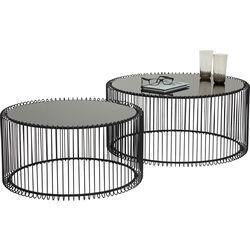 Tables basses Wire noires (set de 2)