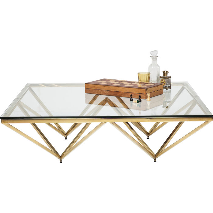 Table Basse Network Dorée 105x105cm Kare Design