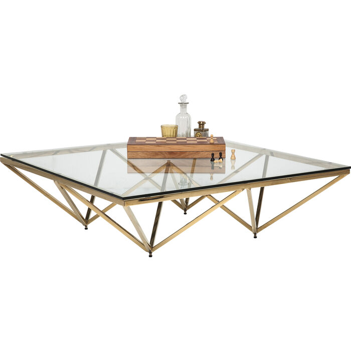 Kare Black Coffee Table: Coffee Table Network Gold 105x105cm