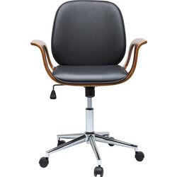 Sedia ufficio girevole Patron Walnut