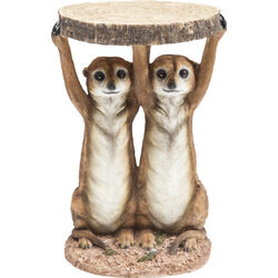 Side Table Animal Meerkat Sisters Ø33cm