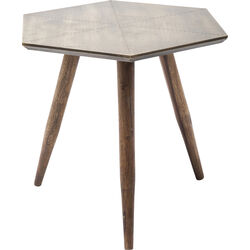 Side Table Rivet Gold 50x50cm