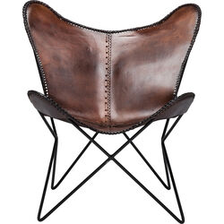 Armchair Butterfly Brown Econo