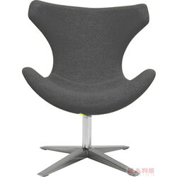 Swivel Chair Saddle Grey