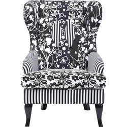 Wing Chair Villa Black and White