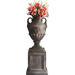 Vase XL Mayfair marron avec socle