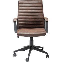 Chaise de bureau pivotante Labora marron