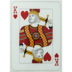 Picture Glass King Of Hearts 90x66cm