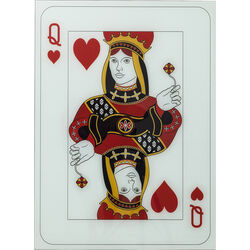 Tableau en verre Queen of Hearts 90x66cm