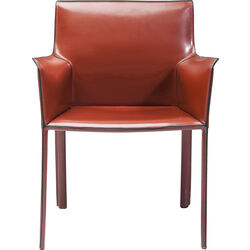 Chair with Armrest Fino Brown