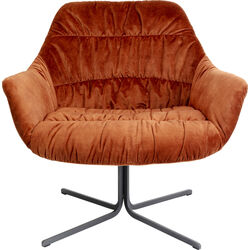Swivel Armchair Bristol Rust Red