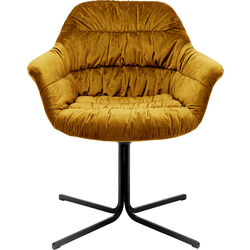 Swivel Armchair Colmar Yellow