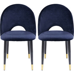 Dining Chair Iris Velvet Blue (2/Set)